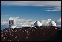 Subaru Telescope and Keck Observatory. Mauna Kea, Big Island, Hawaii, USA ( color)