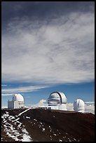 Summit observatories. Mauna Kea, Big Island, Hawaii, USA
