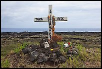 Roadside memorial. Maui, Hawaii, USA (color)