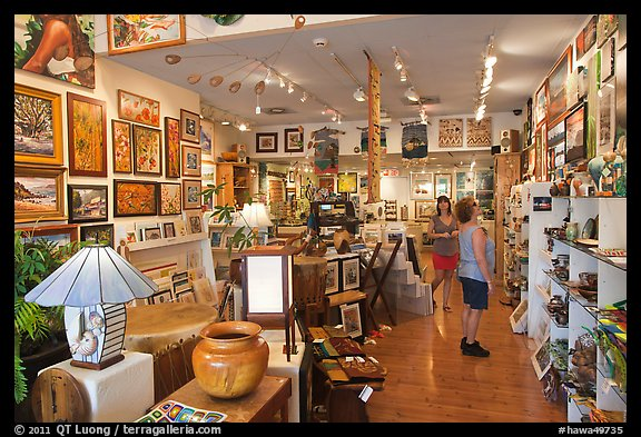Art gallery. Lahaina, Maui, Hawaii, USA (color)