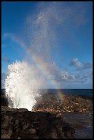 Spouting Horn, Poipu. Kauai island, Hawaii, USA ( color)