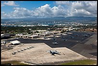 Hickam Air Force Base. Honolulu, Oahu island, Hawaii, USA (color)