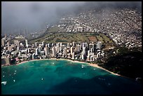 Aerial view of Kapiolani Park. Honolulu, Oahu island, Hawaii, USA ( color)