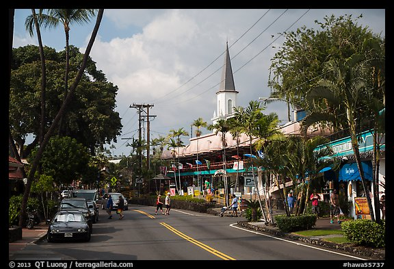 Street, Kailua-Kona. Hawaii, USA (color)