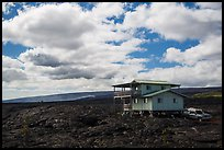 House built over fresh lava fields. Big Island, Hawaii, USA ( color)