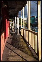 Boardwalk, Pahoa. Big Island, Hawaii, USA (color)
