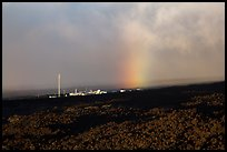 Mauna Loa Observatory and rainbow. Big Island, Hawaii, USA ( color)