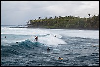 Surfers, Isaac Hale Beach. Big Island, Hawaii, USA ( color)