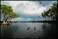 Pohoiki Hot Spring, Ahalanui County Beach Park. Big Island, Hawaii, USA ( color)