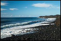 Surf, Kaimu Beach. Big Island, Hawaii, USA ( color)