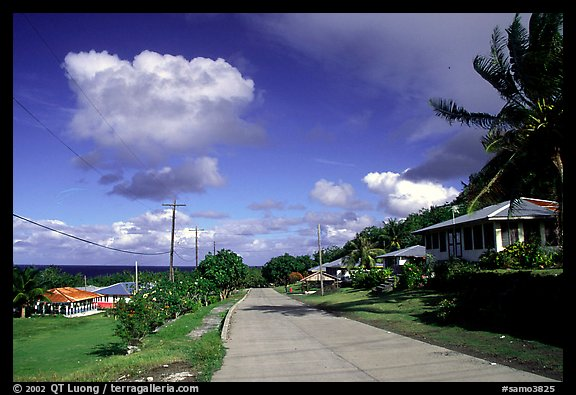 The main street of Fitiuta. American Samoa (color)