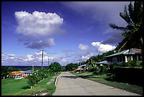 The main street of Fitiuta. American Samoa ( color)