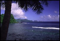 Coast from Onena. Tutuila, American Samoa (color)
