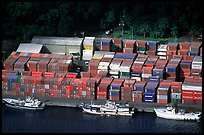 Containers in Pago Pago harbor. Pago Pago, Tutuila, American Samoa ( color)