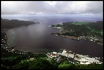 Pago Pago harbor seen from Mount Alava. Pago Pago, Tutuila, American Samoa ( color)