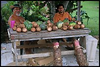 Vegetable stand in Iliili. Tutuila, American Samoa (color)