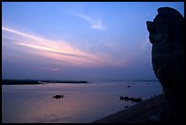 Sunrise over the Tonle Sap river,   Phnom Phen. Cambodia (color)