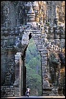 Gate of temple complex. Angkor, Cambodia (color)
