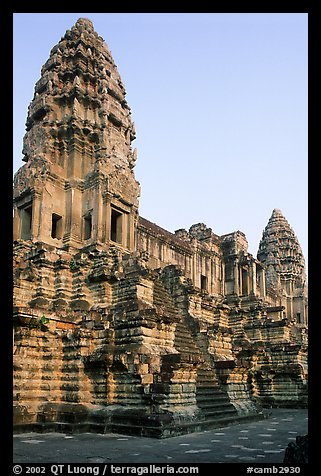 Inner towers of Angkor Wat. Angkor, Cambodia (color)