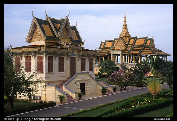 Royal palace. Phnom Penh, Cambodia (color)