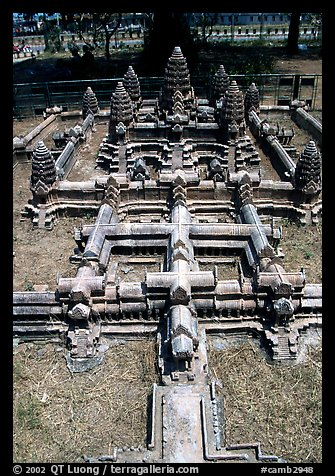 Model of Angkor Wat found in Phnom Phen. Angkor, Cambodia (color)