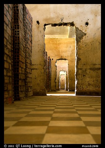 Tuol Sleng Genocide Museum, former school turned  Khmer Rouge detention center. Phnom Penh, Cambodia (color)
