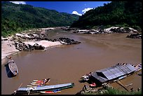 Pakbeng. Mekong river, Laos (color)