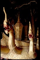 Funeral vehicle at Wat Xieng Thong. Luang Prabang, Laos ( color)