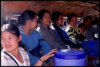 Women ride a bus, Huay Xai. Laos ( color)