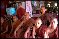 Monks,  Shwedagon Paya. Yangon, Myanmar ( color)