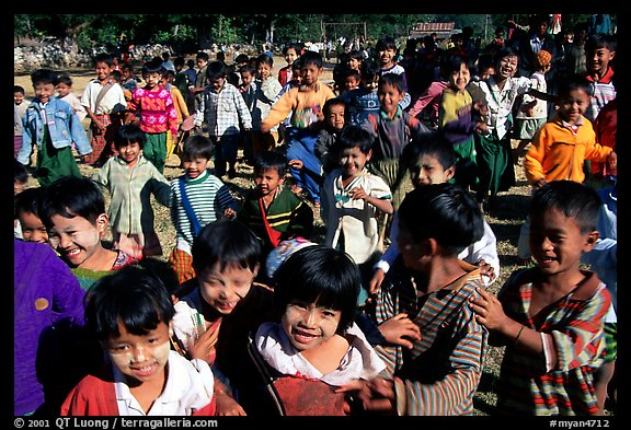 Children at a school. Mount Popa, Myanmar (color)