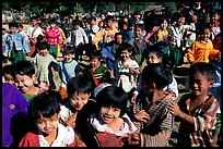 Children at a school. Mount Popa, Myanmar