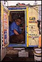 Man in one-room photo lab. Bagan, Myanmar ( color)