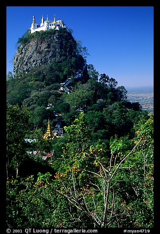 Complex of monestaries on a volcanic spire. Mount Popa, Myanmar