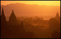 Sunset from Shwesandaw. Bagan, Myanmar ( color)