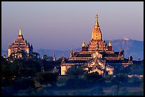 Ananda and Thatbyinnyu pahtos. Bagan, Myanmar ( color)