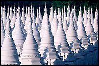 Stupas at Sandamani Paya. Mandalay, Myanmar