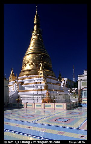 Sanctuary on Sagaing Hill. Mandalay, Myanmar (color)