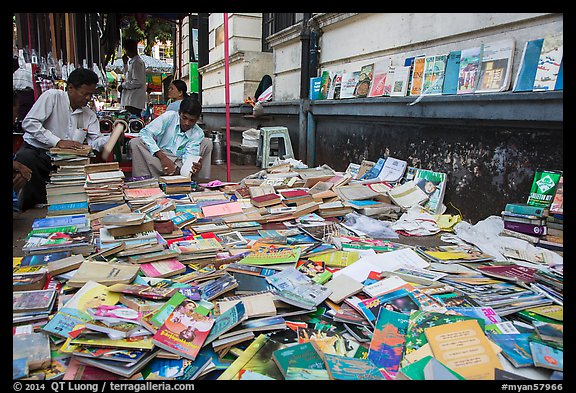 Used books for sale. Yangon, Myanmar (color)