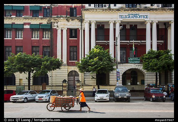 Post office. Yangon, Myanmar (color)