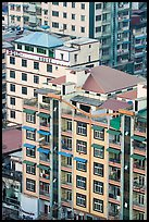 New appartment buildings from above. Yangon, Myanmar ( color)