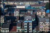 Residential buildings from above. Yangon, Myanmar ( color)