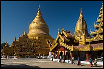 Shwezigon Pagoda. Bagan, Myanmar ( color)