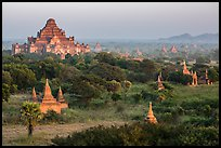 View from Shwesandaw. Bagan, Myanmar ( color)