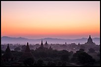 Archeological area at sunset. Bagan, Myanmar ( color)