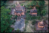 Temple seen from the air. Bagan, Myanmar ( color)