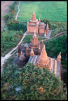 Small temple complex seen from above. Bagan, Myanmar ( color)