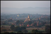 Aerial view of Bagan archeological site. Bagan, Myanmar ( color)