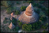 Aerial view of pagoda complex. Bagan, Myanmar ( color)