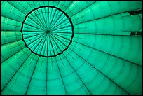Looking up inside hot air balloon. Bagan, Myanmar ( color)